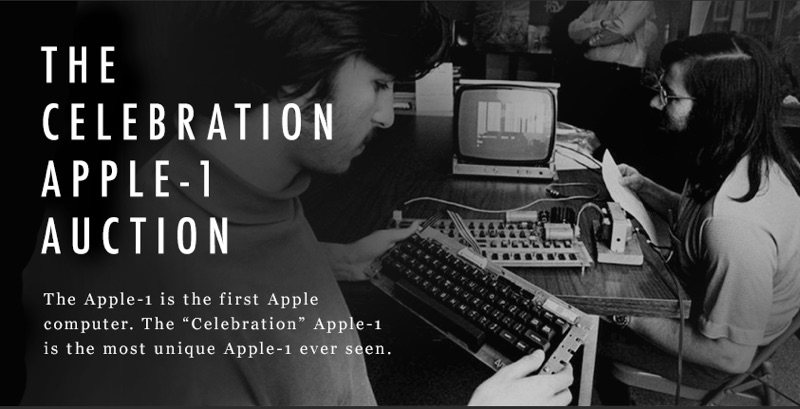 "Auction Makes History as the ""Celebration"" Apple-1 Becomes one of the Most Valuable Computers and Pieces of Vintage Electronics Ever Sold"